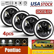 "4pcs 5 3/4"" 5.75"" LED Headlights Halo HI/LO for Pontiac GTO Grand Prix Firebird"