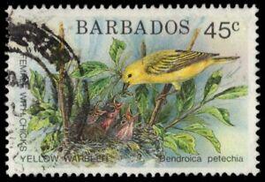 "BARBADOS 797 (SG950) - Yellow Warbler ""Dendroica petechia"" WWF (pf33493)"