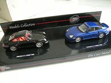 Set 2x Porsche 911 Turbo 964 aus 1995 & Turbo 996 aus 2000 in  1:43 - neuwertig
