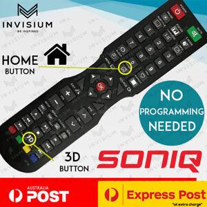 For SONIQ QT1E QT155 QT166 QT138 Remote TV E32Z10A E55V13A E55V14B + HOME BUTTON