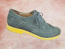 Florsheim Oxford Size 12 Men's Grey Leather Dress Shoes Wingtip Brogue