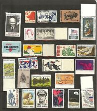 25 Mint US  6 cent stamps!l Mostly FVF/NH Inc.Stone Mtn