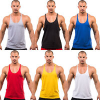 Bodybuilding Vest Tank Top Men's Gym Stringer Fitness Plain Shirt Muscle Workout