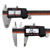 150mm/ 6inch Digital Calibre Electrónico LCD Pie Calibrador Vernier Micrómetro