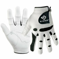 Bionic Mens StableGrip Leather Golf Gloves Orthopedic - LH 28% OFF RRP