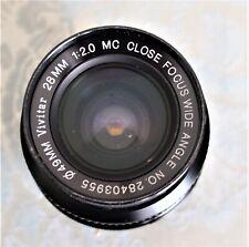 VIVITAR 28mm f2 MC CLOSE FOCUS Wide Angle Lens Komine -adapted for Sony E-Mount