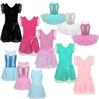 Girls Ballet Dance Dress Leotard Tutu Skirt Gymnastics Princess Dance Costume