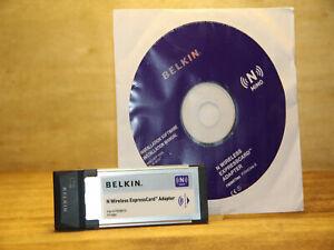 ✔️WORKING BELKIN N WIRELESS EXPRESSCARD F5D8073 - UK SELLER