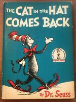 Vintage 1958 Dr Seuss The Cat In The Hat Comes Back Beginner Books