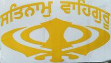 Khanda sticker satnam waheguru For Car Or Truck Sikh item USA Seller