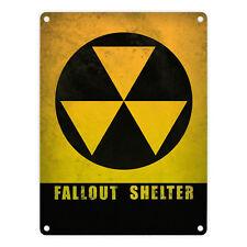Metallschild Atomschutzbunker mit Spruch: Fallout Shelter Blechschild Schild