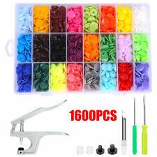 360 Sets Kam Snap Kit T5 Plastic Snaps Fastener Buttons Press Stud W/ Plier Tool