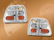 APC LED LOOK TAIL BRAKE LAMPS LIGHTS 4PCS CHROME FOR 98-05 TOYOTA LAND CRUISER