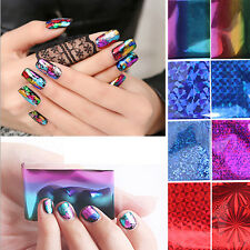 20PCS DIY Laser Foils Stickers Finger Nail Art Tips Decal Water Transfer Decor