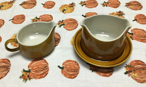 Holiday perfect FRANCISCAN Discovery Interpace Gravy and creamer Autum Gold