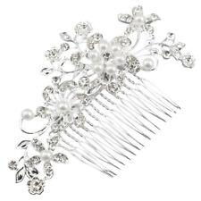 Fermacapelli a pettine affascinante di cristallo perla diamante da sposa P6 F0E8