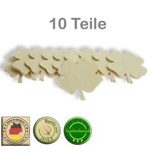 Kleeblatt Streudeko Deko Tischdeko Basteln Glücksbringer Sylvester roh Birke 3mm