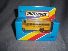 287B Vintage Matchbox 1981 MB 47 Bus School Bus School District 2 USA 1:76