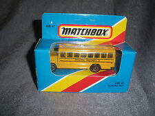287B Vintage Matchbox 1981 MB 47 Autobus Scolaire Bus School District 2 USA 1:76