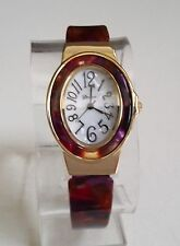 GOLD/DIFFERENT SHADES FINISH  DESIGNER STYLE WOMEN'S BANGLE CUFF FASHION WATCH