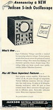 1950 Print Ad of Jackson Electrical Instrument Co Model CRO-2 Oscilloscope