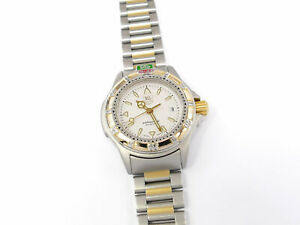 TAG Heuer 4000 Professional Silver Dial with 18k Gold WF1420-0 Ladies 28mm