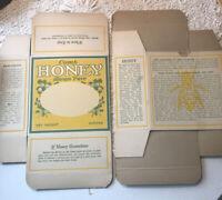 2 Vintage Comb Honey Box Cartons Unused Bee