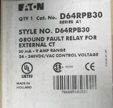 Eaton Cutler Hammer External Ct Ground Fault Relay D64RPB30