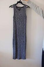 Cotton On Ribbed Midi Dress XS Blue/grey