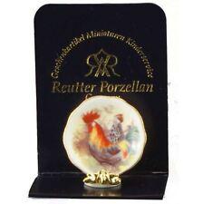Reutter Porzellan Wandteller Hahn / Wall Plate Rooste Puppenstube Dollhouse 1:12