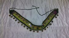 Belly Dancer belt Custom Made w/ silver coins & Rubies & Sapphires Vintage.