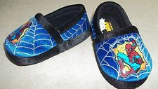 z- SHOES BABY TODDLER SZ 5-6 SLIPPERS SPIDERMAN THEME LOOK UNUSED!