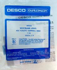 New Desco 09105 Wristband Wrist Stat Jewel Adj Elastic Sapphire 4Mm Ground