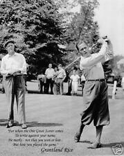 Bobby Jones & Grantland Rice famous quote golf photo