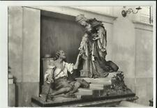 cartolina  di  val gardena ortisei st ulrich statua di santa elisabetta