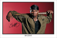 * 50 CENT * large signed photo print of CURTIS JACKSON. perfect gift!!