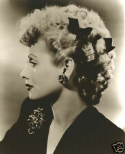I Love Lucy Lucille Ball Beautiful Portrait Profile Curly Hair With Bows CLASSIC