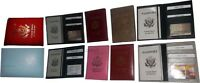 New USA Leather passport cover credit ATM card case photo ID holder brand new wt
