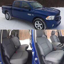 2013-2018 Dodge Ram Crew Cab Katzkin Diesel Gray Leather Kit Solid Rear Seat