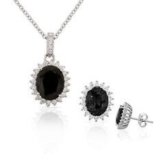 Conjuntos de bisutería negros de cristal