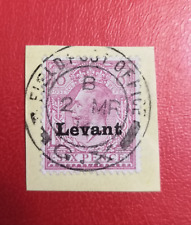 Salonica 1916 6 pence violet... British Field Office British Levant... used