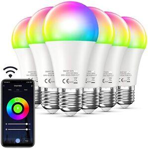 LED Smart Glühbirne RGB 7W E27 Wifi Smart Birne Leuchtemittel Lampe Alexa Google
