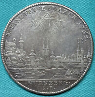 1768-SR German States Nürnberg City View Thaler DAV-2494 LOW XF