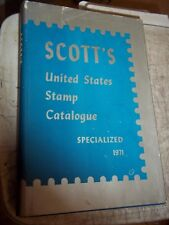 RARE 1971 SCOTT'S UNITED STATES STAMP CATALOGUE SPECIALIZED HC DJ BOOK 49th ED.
