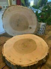 "14"" Rustic Hardwood Log slice, ring, wooden wedding cake stand, centre piece"