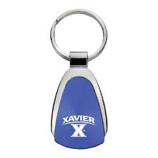 Xavier University - Teardrop Keychain - Blue