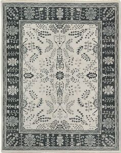 Restoration Hardware Nava Taupe Hand Knotted Rug 8x10 Wool