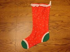 Red White and Green Christmas Stocking