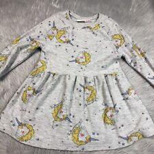 Zara Baby Girls Size 3/4 Gray Unicorn Dress