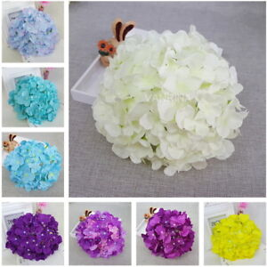 10 Large Silk Hydrangea Flowers Artificial Hydrangea Heads For Table Centerpiece